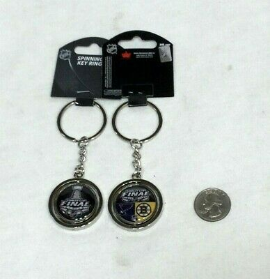 NHL Stanley Cup Finals Spinning Keychain 2 Sided Boston Bruins St Louis Blues  Boston Bruins Nhl Keychain