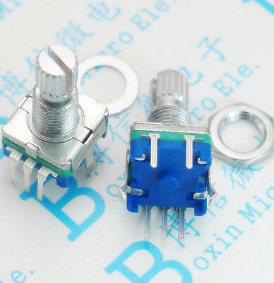 5 Pcs Rotary Encoder With Switch Ec11 Audio Digital Potentiometer 15mm Handle