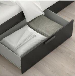 IKEA Brimnes Queen Bed with Headboard - Black