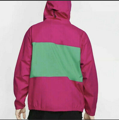 Nike ACG Packable Rain Jacket Pink Green BQ7340-607 Men's NWT Large