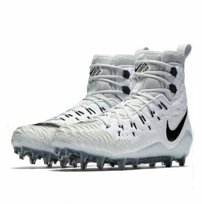 aab0707c2 Mens Nike Force Savage Elite TD Football Cleats White   Grey 857063-100  Size 9.5