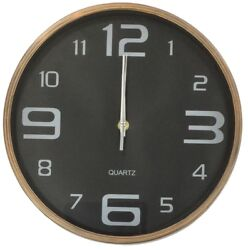 Large 30cm Round Wall Clock With Quartz Movement Brushed Copper
