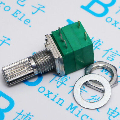 10pcs 5pin Rv097ns Dual Potentiometer B10k With Switch Audio Power Amplifier