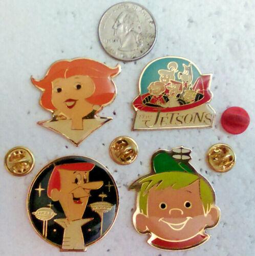 4 Hanna Barbera The Jetsons Lapel Pins George Jane Elroy Jetson pin lot