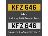 KFZ 646 – Price Includes DVLA Fees – Cherished Personal Private Registration Number Plate