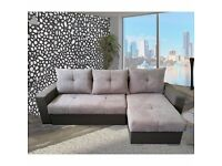 10 DAY MONEY BACK GUARANTY NEW MILANO CORNER SOFA BED WITH MASSIVE STORAGE EASY LIFTUP SYSTEM CALL