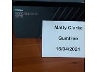 NVIDIA GEFORCE RTX 3070 FOUNDERS EDITION - BNIB & SEALED