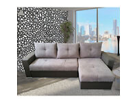 !!!UP TO 50% OFF !!!UNIVERSAL CORNER SOFA BED- MILAN -SLEEP FUNCTION,BED CONTAINER - NEW FABRIC