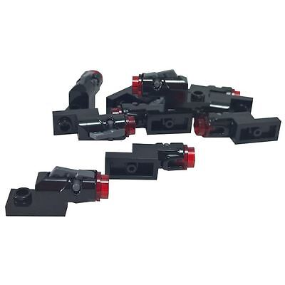 10 NEW LEGO Plate 1 x 2 with Mini Blaster and trans red bullets
