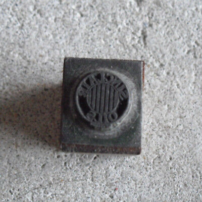 Vintage Sinclair Oils Small Wood Metal Letterpress Print Block Stamp