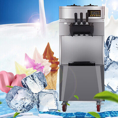 Best 20lh Stand Type Commercial 3 Flavors Ice Cream Machine Steel Automatic Us