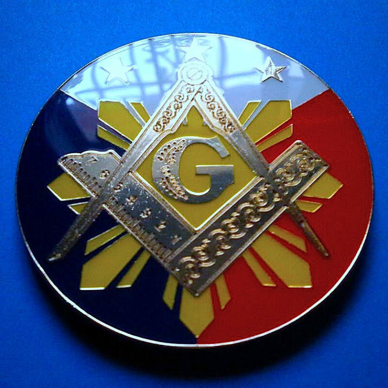 Freemason Masonic auto Emblem Decal bigger Size 3.4 Inches Masonry Lodge Mason