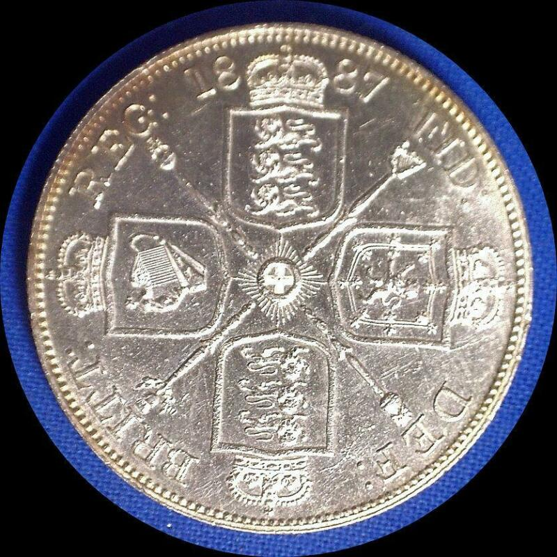 Great Britain 1887 double florin NICE