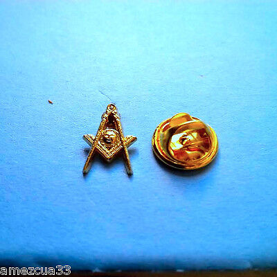 Senior Decon Blue Lodge  Small Pin Golden Finish NMS