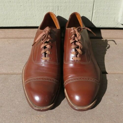 Original WW2 US ARMY MILITARY LEATHER DRESS SERVICE SHOES by Stetson