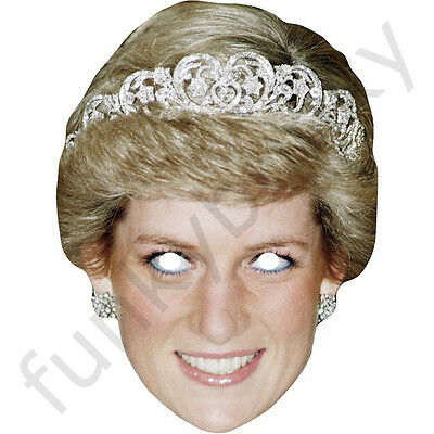 Princess Diana Royal Celebrity Card Face Mask - All Our Masks Are Pre-Cut! - Princess Diana Mask