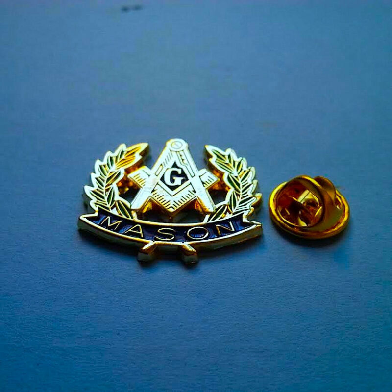 Large Mason Lapel Pin