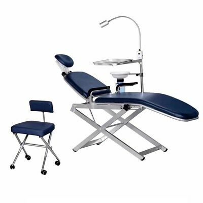 Tpc Portable Dental Chair Unit With Cuspidor Led Light Dental Stool Carry Bags