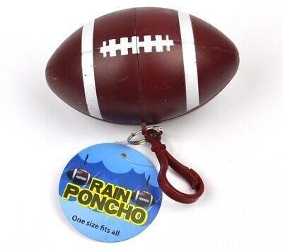 American Football USA Schlüsselanhänger Kapsel mit Regen Poncho Regenschutz Cape