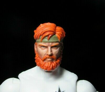 HEAD ONLY Marvel Legends Custom painted Head 1/12 Gi joe Outback head 6 inch