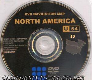 2007 2008 2009 2010 Toyota Avalon Navigation DVD Map North America U54 Update CD