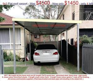 new  flat carport  3 x 9 $ 1450 or 3 x 12 $ 1900 Ingleburn Campbelltown Area Preview