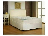 ♝♝ DIVAN BEDS BASE HEADBOARD AND DRAWERS & GOOD MATTRESS IN STOCK NOW🔮♝