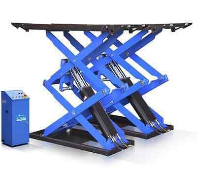 Super-Thin Scissor Lift Auto Shop Dealer 6,600 lbs - Car Hoist - Lift Shop 3 Ton