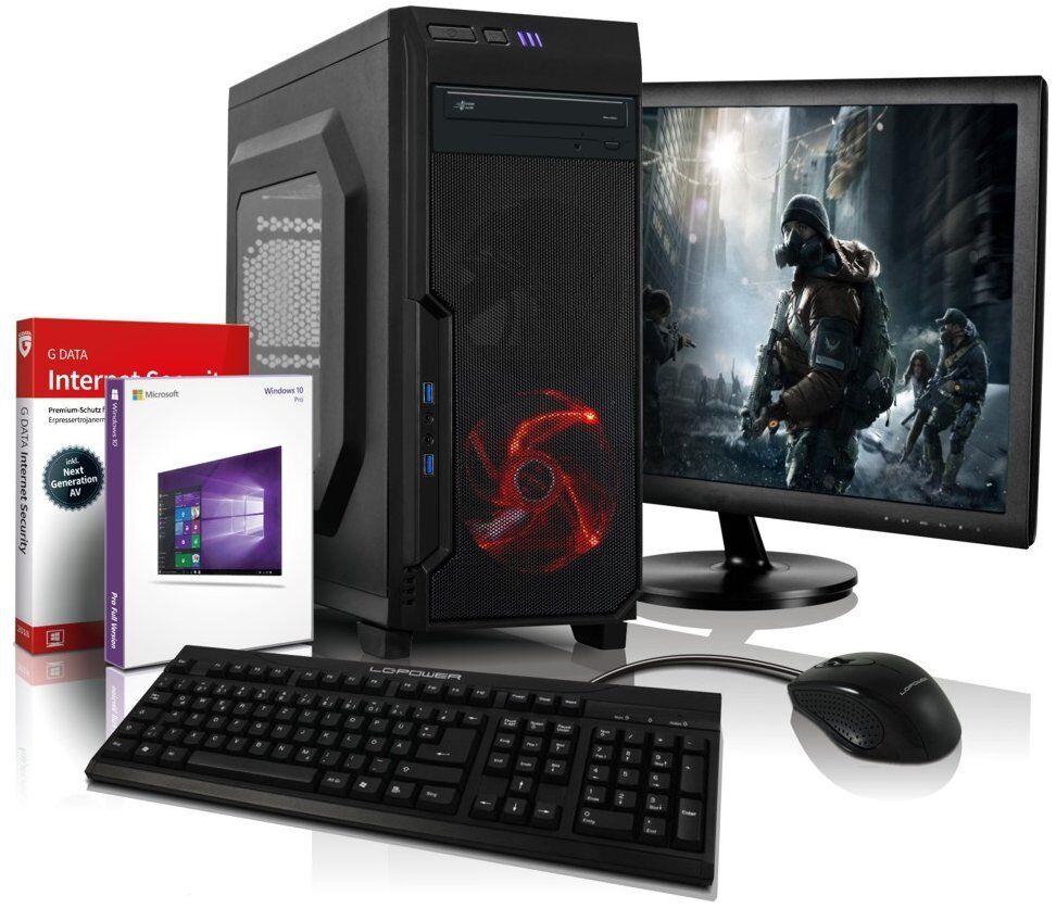 """i7 Gaming Komplett PC+ 22"""" TFT GT 710 DDR5 8GB 500GB Computer Windows 10 Rechner"""