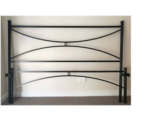 Metal Queen bed frame and mattress
