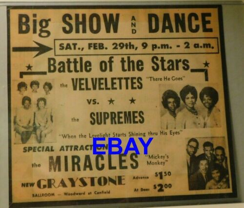 Motown Battle of the Stars at Graystone Ballroom repro ad free 1st class mail