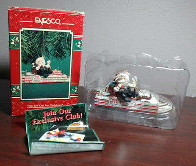 Enesco Ornament 1996 Decked out For Christmas Santa on Riverboat Casino #176796