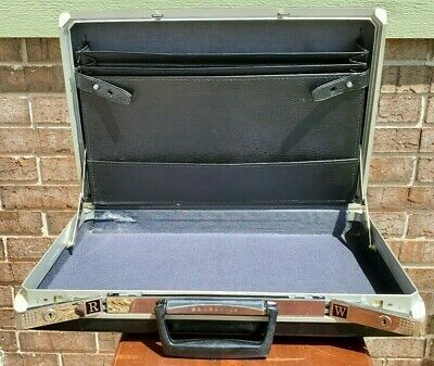 Vintage Retro 1970s Samsonite Black Hard Shell Briefcase Attache
