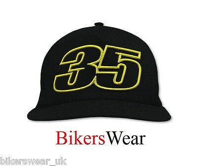 Moto GP Rider Cal Crutchlow 35 Black Flat Visor Cap Universal One Size CMCA16304