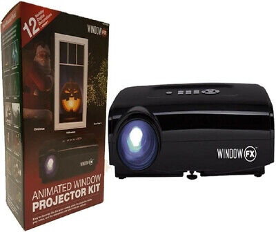 Animated Window Projector Kit - 12 Holiday Digital Decorations