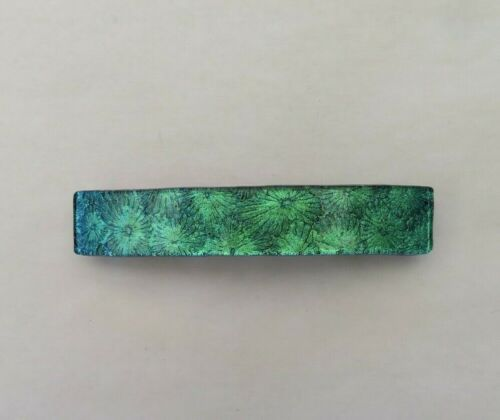 Fused Florentine Dichroic Glass Genuine French Hair Barrette/Free Shipping/New