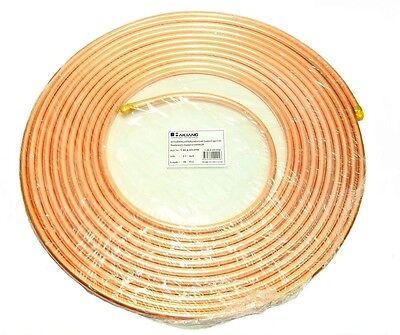 Copper Tubing 12 In. X 50 Ft. Refrigeration Hvac Tube Coil Ductless Mini Split