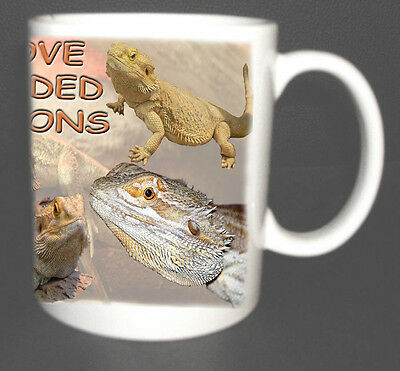 BEARDED DRAGON COFFEE MUG, LIMITED EDITION, I LOVE BEARDED DRAGONS NEW XMAS GIFT