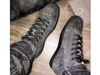 Christian Louboutin Grey Suede Strass High Tops