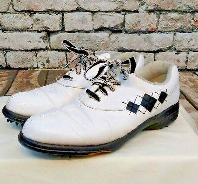Argyle Golf Schuhe (FootJoy comfort argyle stitch black white women's size 8 M golf shoe 98522)
