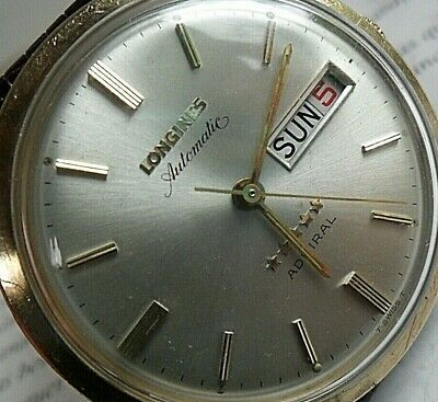 Clean Vintage Men's 1970s Longines 5 Star Admiral Day Date Swiss Automatic Watch