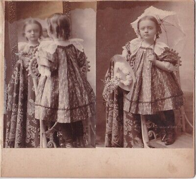 3 Antique Victorian CDV Photos of Little Girl in Sunday Best - One w/