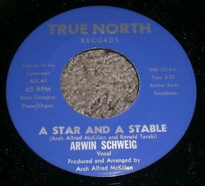 A Star And A Stable Christmas Angel Arwin Schweig Vg   Vinyl Holiday 7  Fast