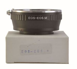 Canon EF EF-S Lens to EOSM EFM Mount Camera EOS-EOSM EOS M Lens Adapter Ring