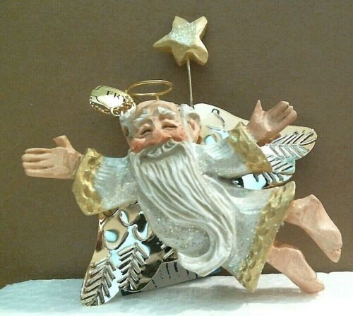 DAVID FRYKMAN 1995 OLDEST ANGEL STAR SIDE ORNAMENT ALL THAT GLITTERS COLLECTION
