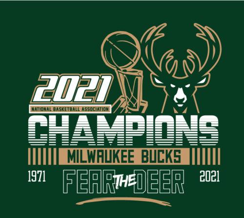 Milwaukee Bucks 2021 NBA Champions shirt Fear The Deer Champs NBA Finals Mil