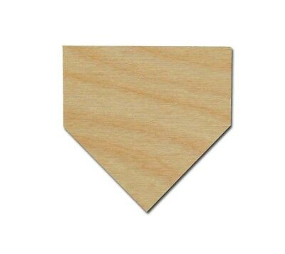 Baseball Home plate Shape Unfinished Wood Cut Outs Sports Theme Variety of sizes Baseball Home Plate Size