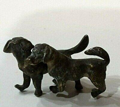 Vintage miniature dogs figure  Bronze? Lead? Metal