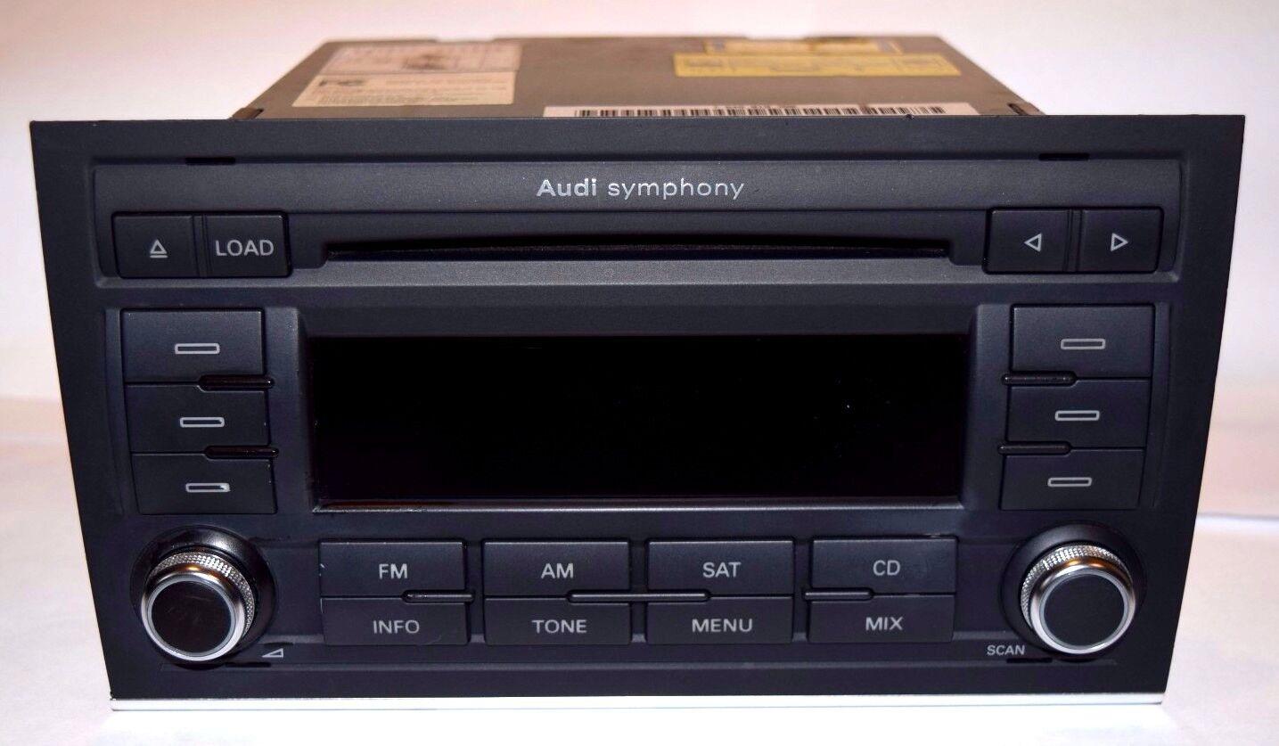 audi a4 symphony ii cd player radio stereo b7 2006 2007. Black Bedroom Furniture Sets. Home Design Ideas