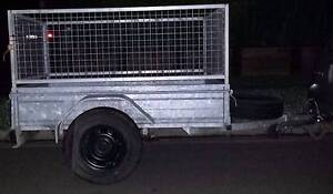 galvanised 6x4 box trailer with cage CALLS ONLY   10/2017 REGO Blacktown Blacktown Area Preview